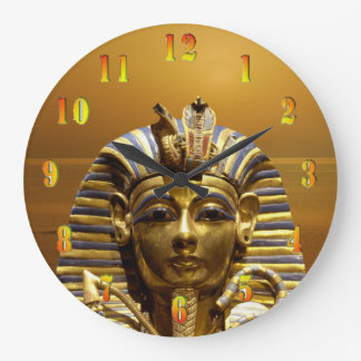 Egypt King Tut Large Clock