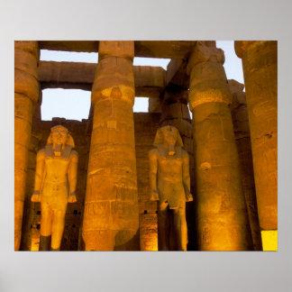 Egypt, Luxor.  Karnack Temple. Poster