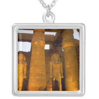 Egypt, Luxor.  Karnack Temple. Silver Plated Necklace