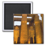 Egypt, Luxor.  Karnack Temple. Square Magnet