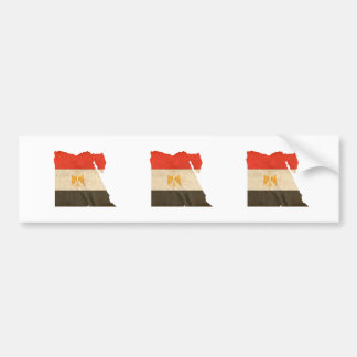 EGYPT MAP and FLAG Car Bumper Sticker