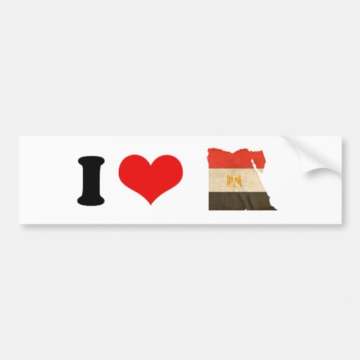 EGYPT MAP and FLAG Bumper Stickers