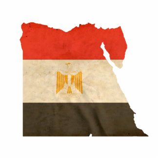 EGYPT MAP and FLAG Cut Out