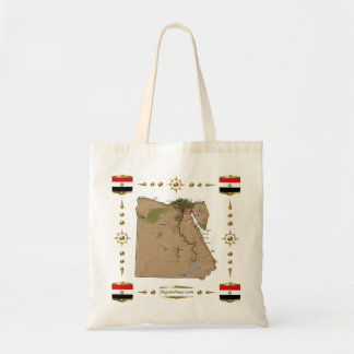 Egypt Map + Flags Bag