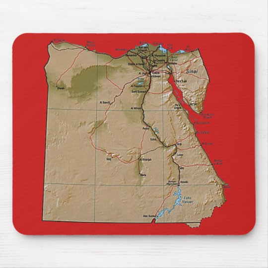 Egypt Map Mousepad