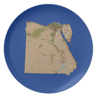 Egypt Map Plate