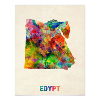 Egypt Map Watercolor Card