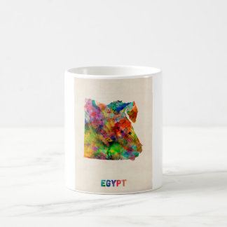 Egypt Map Watercolor Coffee Mug