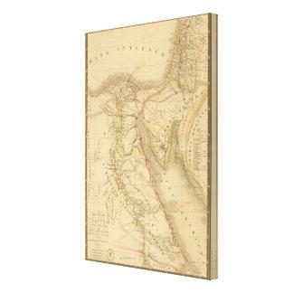 Egypt, Palestine and Arabia Map Canvas Print