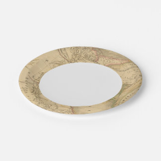Egypt, Palestine and Arabia Map Paper Plate
