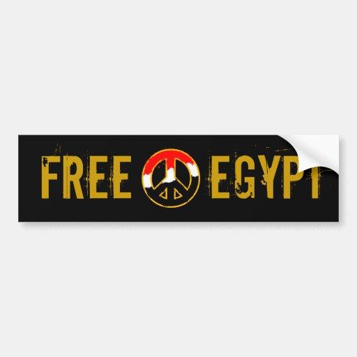 EGYPT PEACE BUMPER STICKER