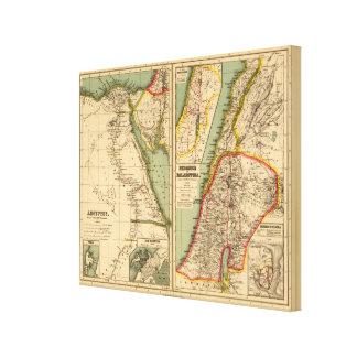 Egypt, Phoenicia and Palestine Canvas Print