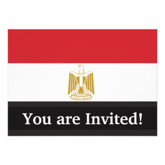 Egypt Plain Flag Custom Announcement