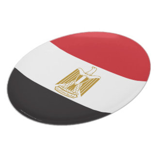 Egypt Plain Flag Plate