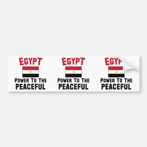 Egypt: Power To The Peaceful Bumper Sticker