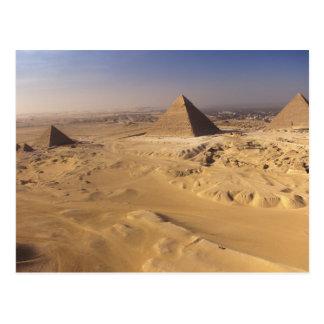 Egypt, Pyramids at Giza, Khafre, Khufu, Menkaure Postcard