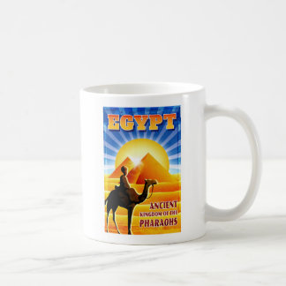 Egypt Pyramids Vintage Travel Illustration Coffee Mug