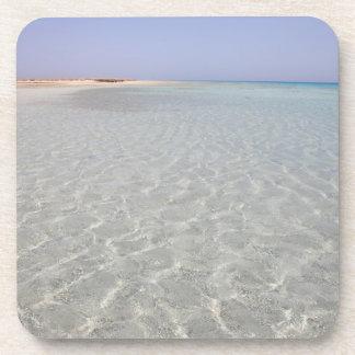 Egypt, Red Sea, Marsa Alam, Sharm El Luli, Beach 2 Beverage Coasters