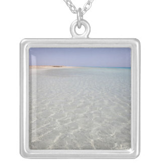 Egypt, Red Sea, Marsa Alam, Sharm El Luli, Beach 2 Silver Plated Necklace