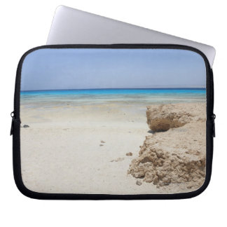 Egypt, Red Sea, Marsa Alam, Sharm El Luli, Beach Laptop Sleeve