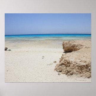 Egypt, Red Sea, Marsa Alam, Sharm El Luli, Beach Poster