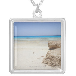 Egypt, Red Sea, Marsa Alam, Sharm El Luli, Beach Silver Plated Necklace