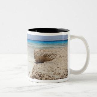 Egypt, Red Sea, Marsa Alam, Sharm El Luli, Beach Two-Tone Coffee Mug