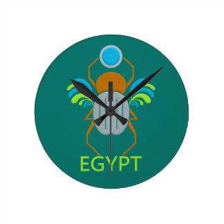 Egypt Scarab custom wall clock