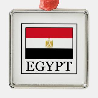 Egypt Silver-Colored Square Decoration