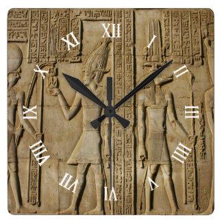 Egypt Square Wall Clock