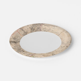 Egypt, Sudan, Africa 2 7 Inch Paper Plate