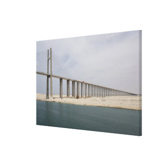 Egypt, Suez Canal. Bridge of Peace aka Peace Canvas Print