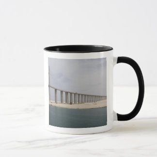 Egypt, Suez Canal. Bridge of Peace aka Peace Mug