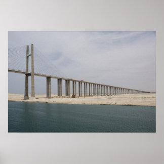 Egypt, Suez Canal. Bridge of Peace aka Peace Poster