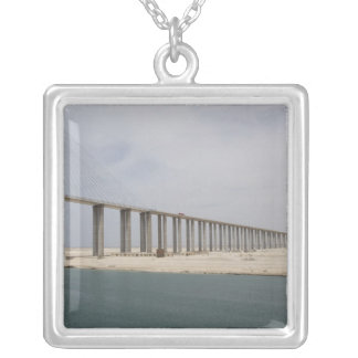 Egypt, Suez Canal. Bridge of Peace aka Peace Silver Plated Necklace