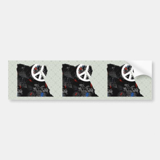 Egypt Trendy Peace Sign with Egyptian map Bumper Sticker