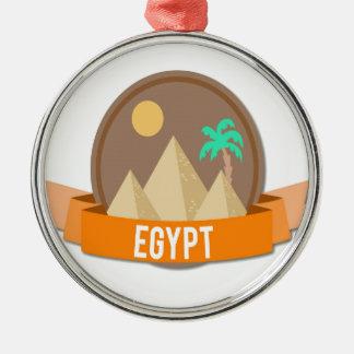 Egypt Unique Silver-Colored Round Decoration
