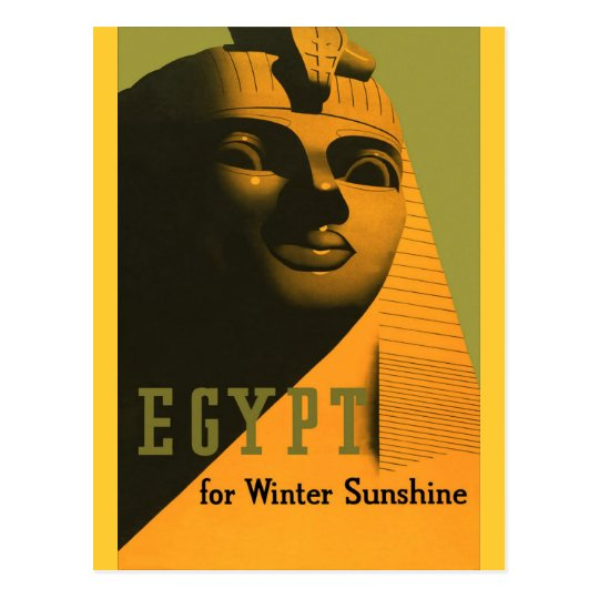 Egypt - Vintage Travel Poster Art Postcard