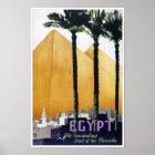 Egypt vintage travel poster Restored