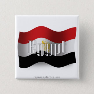 Egypt Waving Flag 15 Cm Square Badge
