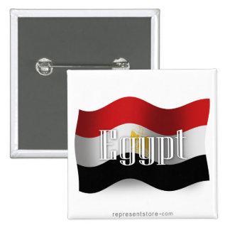 Egypt Waving Flag 15 Cm Square Badge