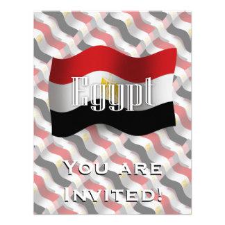 Egypt Waving Flag Custom Invites