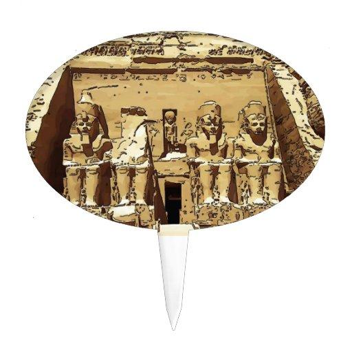 Egyptian Abu Simbel temples Cake Pick