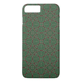Egyptian arabic geometric pattern in brown green iPhone 8 plus/7 plus case