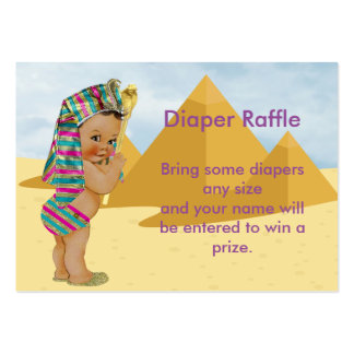 Egyptian Baby Shower Raffle Ticket Pack Of Chubby Business Cards