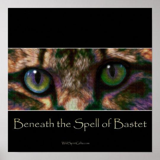EGYPTIAN BASTET Cat God Art Poster