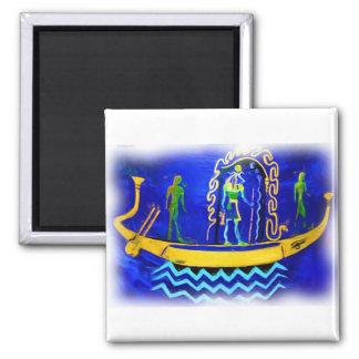 Egyptian Boat/ Barge (in oil 2) Fridge Magnet