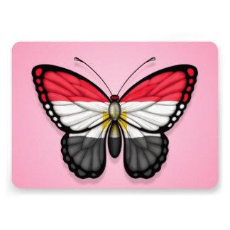 Egyptian Butterfly Flag on Pink Custom Invitation