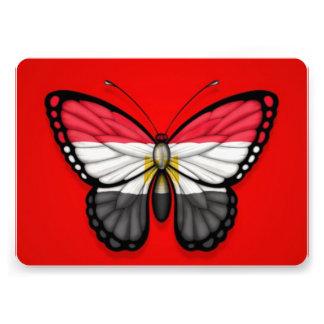 Egyptian Butterfly Flag on Red Custom Invitation