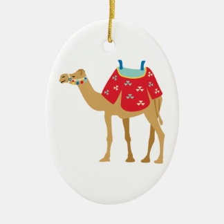 Egyptian Camel Ceramic Oval Decoration